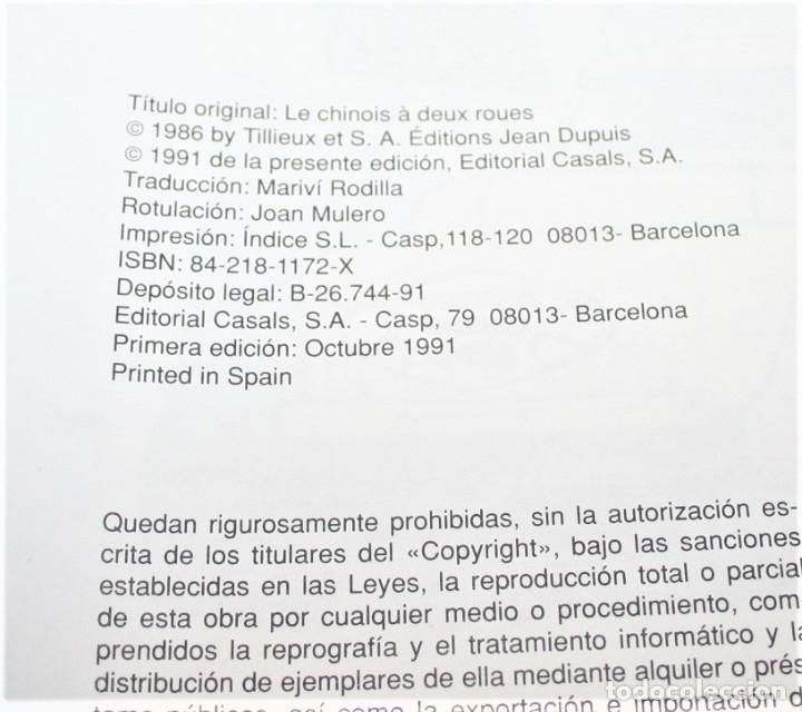 Cómics: GIL PUPILA - EL HOMBRE DE LAS DOS RUEDAS - MILLIEUX - ED.CASALS - 1991 - Foto 2 - 179077160