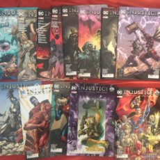 Cómics: ¡¡¡LOTE 13 COMICS EN GRAPA. DC. INJUSTICE GODS AMONG US NºS 46 - 58. EDITORIAL ECC.!!!. Lote 179156728