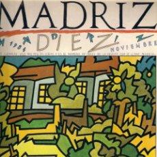 Cómics: MADRIZ Nº 10 NOVIEMBRE 1984 - AYUNTAMIENTO DE MADRID.. Lote 179209101