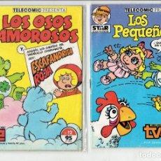 Cómics: STAR COMICS LOS PEQUEÑECOS N,11 Y LOS OSOS AMOROSOS Y ESCAFANDRITA ROJA N,12 1986. Lote 179246846