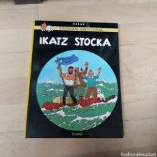 Cómics: TINTÍN, IKATZ STOCKA, ELKAR, EUSKERA. Lote 179537718