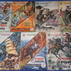 Cómics: NOVELAS DE AVENTURAS EN COLORES Nº 2,3,4,6,8, 13 Y 17 - SALGARI - GAHE (1962) ¡MUY DIFÍCILES!. Lote 179558440