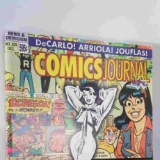 Cómics: MAGAZINE: THE COMICS JOURNAL NUM 229 DEC 2000. CONTENTS: DE CARLO, ARRIOLA, JOUFLAS. Lote 179961480