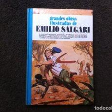 Cómics: GRANDES OBRAS ILUSTRADAS DE EMILIO SALGARI (TOMO 9) ED. BRUGUERA, 1981. TAPA DURA. Lote 180084116