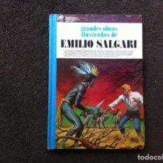Cómics: GRANDES OBRAS ILUSTRADAS DE EMILIO SALGARI (TOMO 1) ED. BRUGUERA, 1980. TAPA DURA. Lote 180084610