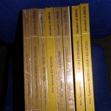 Cómics: DESCOBRIR LA BIBLIA - COLECCIÓN COMPLETA 8 TOMOS EN CATALÀ - PLAZA & JANES 1984 - COMIC EN COLOR. Lote 180123695