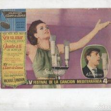 Cómics: CLARO DE LUNA: V FESTIVAL DE LA CANCION MEDITERRANEA. Lote 180146976