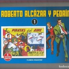 Cómics: PLANETA: ROBERTO ALCAZAR Y PEDRIN VOLUMEN 01: LOS PIRATAS DEL AIRE. Lote 180184085