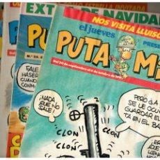 Cómics: EL JUEVES PRESENTA: PUTA MILI. LOTE DE 13 NºS.14,25,28,39,56,57,58,95,101,103,115,123 Y 124.BUENOS.. Lote 180398802