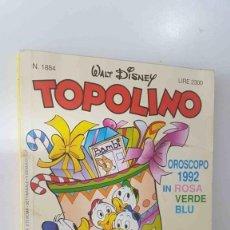 Cómics: WALT DISNEY: TOPOLINO NUM 1884, 5 GENNAIO 1992 - OROSCOPO 1992 IN ROSA, VERDE, BLU. Lote 180858373