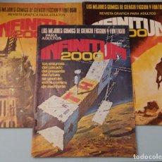 Cómics: INFINITUM 2000 1, 16 Y 19. PRODUCCIONES EDITORIALES. Lote 180883248