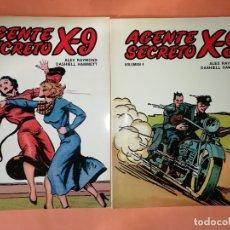 Cómics: AGENTE SECRETO X-9 . VOLUMENES 3 Y 4. EDICIONES B O 1979. ALEX RAYMOND. BUEN ESTADO.. Lote 181000221