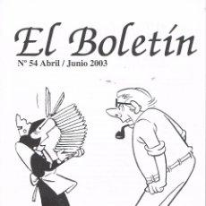 Cómics: EL BOLETÍN Nº 54.AÑO 2003. Lote 181596147