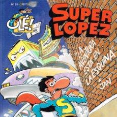 Cómics: SUPER LÓPEZ,COLECCIÓN OLÉ 24.LA AVENTURA ESTA EN LA ESQUINA.EDICIONES B.. Lote 181596983