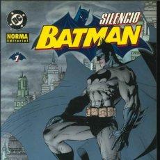 Cómics: BATMAN SILENCIO NÚMERO 1 NORMA EDITORIAL DC CÓMICS. Lote 182210686