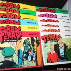 Cómics: TERRY Y LOS PIRATAS (MILTON CANIFF) :TOMOS DEL Nº1 AL Nº12-COLECCIÓN COMPLETA- (MBE). Lote 182254560