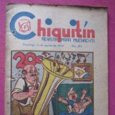 Cómics: CHIQUITIN COMIC PARA MUCHACHOS MEXICO AÑO 1950 C43. Lote 182396652