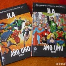 Comics: JLA AÑO UNO 1 Y 2 COMPLETA DC NOVELAS GRAFICAS 10 11 ( WAID ) ¡MUY BUEN ESTADO! SALVAT ECC TAPA DURA. Lote 183166907