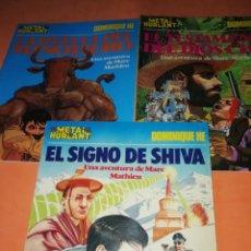 Cómics: LA HUELLA DEL MINOTAURO. EL TESTAMENTO DEL DIOS CHAC. EL SIGNO DE SHIVA. COLECCION METAL.. Lote 183168121