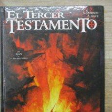Cómics: EL TERCER TESTAMENTO. IV : JUAN O EL DÍA DEL CUERVO - X. DORISON, A. ALICE- TAPA DURA - GLENAT . Lote 183184868