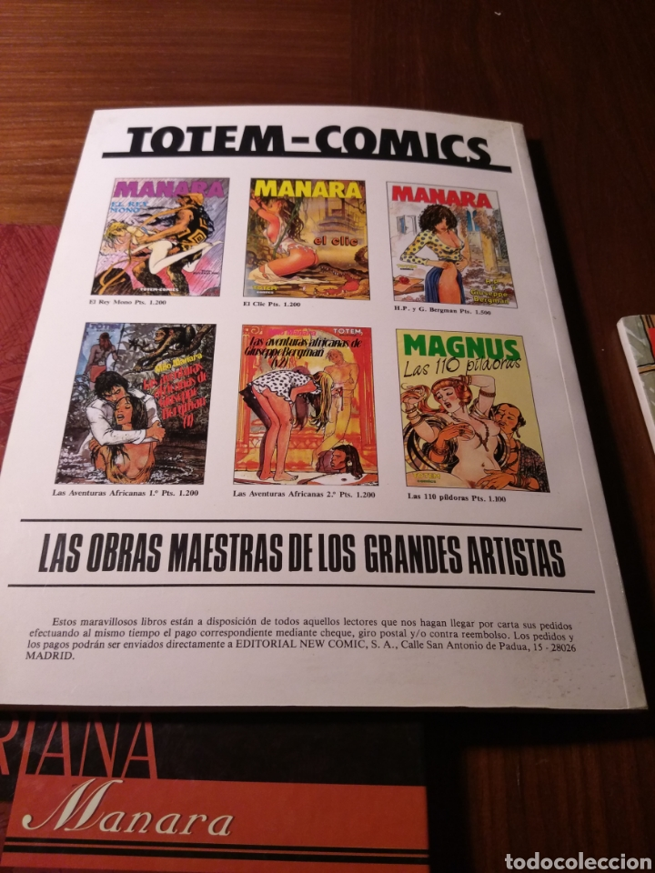 Cómics: Lote Manara: El viaje de G. Mastorna, Viaje a Tulum, Gulliveriana, Candid Camera - Foto 3 - 183213728