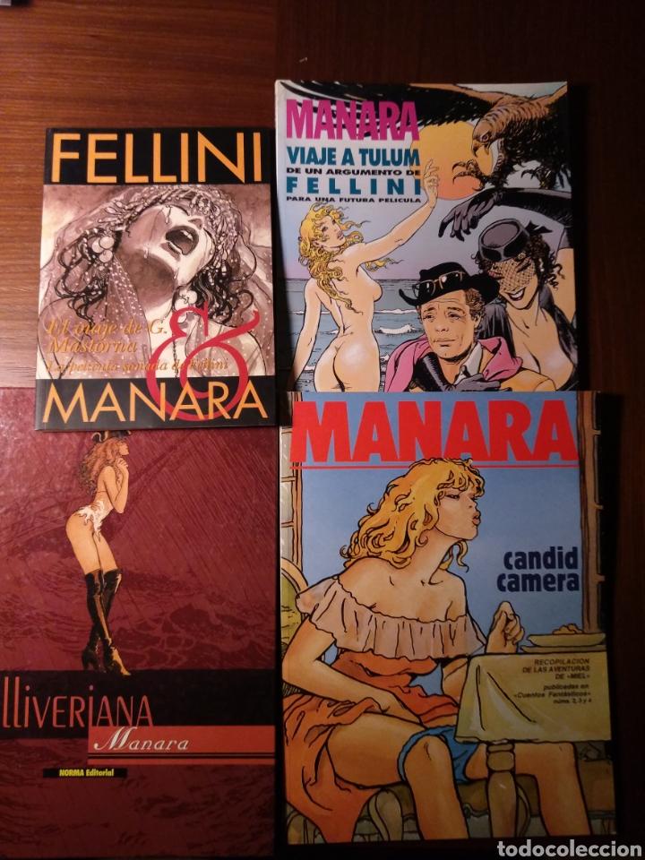 LOTE MANARA: EL VIAJE DE G. MASTORNA, VIAJE A TULUM, GULLIVERIANA, CANDID CAMERA (Tebeos y Comics - Comics Pequeños Lotes de Conjunto)