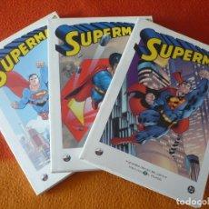 Cómics: SUPERMAN 1 AL 3 ¡COMPLETA! ¡BUEN ESTADO! BIBLIOTECA EL MUNDO 11, 12 Y 13 GRANDES HEROES DEL COMIC. Lote 183359973