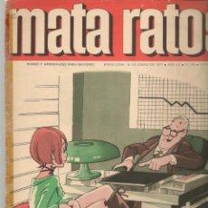 Cómics: MATA RATOS. Nº 195. 15 ENERO 1971. (P/C52). Lote 183608313
