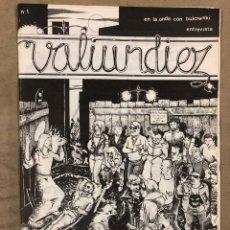 Cómics: VALIUNDIEZ N° 1 (SANTIAGO COMPOSTELA 1985) HISTÓRICO FANZINE ORIGINAL; CÓMICS (VV.AA).. Lote 183693681