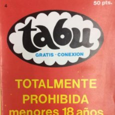Cómics: TABU 4. Lote 184698276