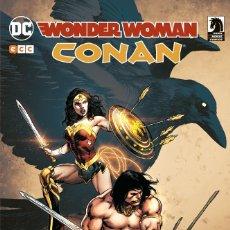 Cómics: CONAN EL BARBARO & WONDER WOMAN - ECC / DC TOMO / TAPA DURA. Lote 185673111
