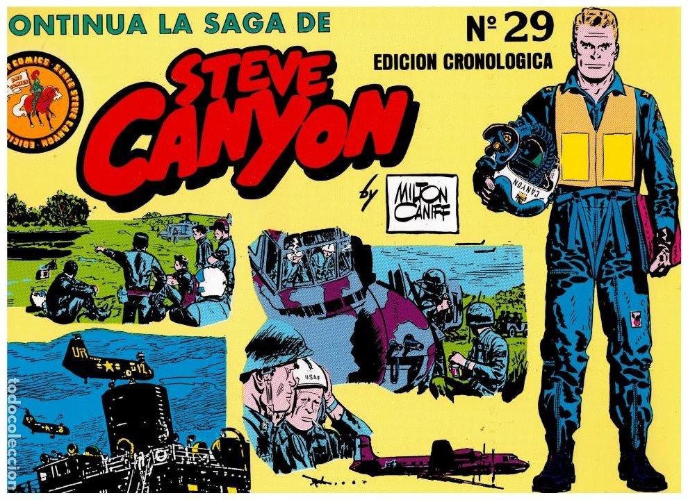 STEVE CANYON - MILTON CANIFF- COMPLETA 29 TOMOS.ESEUVE.PERFECTA.EDICIÓN CRONOLÓGICA. (Tebeos y Comics - Comics Colecciones y Lotes Avanzados)