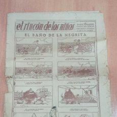 Cómics: EL RINCON DE LOS NIÑOS. NUMERO 43 SUPLEMENTO DEL DIARIO DE MADRID. EL BAÑO DE LA NEGRITA. VER FOTOS. Lote 186234470