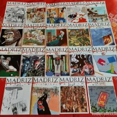 Comics: MADRIZ. LOTE 19 REVISTAS (TRES NÚMEROS DOBLES) Y POSTER. AYUNTAMIENTO DE MADRID, 1984. NUEVO. Lote 187373457