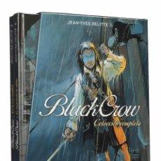 Cómics: BLACK CROW DE JEAN-YVES DELITTE 1 2 COMPLETA EN ESTUCHE DE EDICIÓN LIMITADA - YERMO / TAPA DURA. Lote 189103446