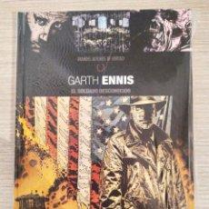 Cómics: GRANDES AUTORES DE VERTIGO GARTH ENNIS SOLDADO DESCONOCIDO CARTONE TOMO ÚNICO (ECC). Lote 189360600