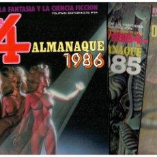Cómics: ZONA 84. LOS 3 ALMANAQUES DE LA COLECCIÓN,1985,1986 Y 1987. TOUTAIN EDITOR. EXCELENTES.. Lote 207316445