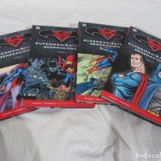 Cómics: BATMAN Y SUPERMAN NOVELAS GRÁFICAS – GENERACIONES COMPLETA 4 TOMOS. Lote 190077907