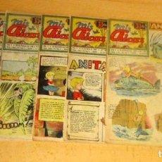 Cómics: MIS CHICAS, ANITA DIMINUTA, LOTE DE 6 COMICS CON RECORTABLE ULTIMA PAGINA. Lote 190147078