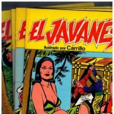 Comics: EL JAVANÉS - CARRILLO - PRODUCCIONES EDITORIALES,1981. LOTE DE 6 NºS. 1,3,4,6,7 Y 9. MUY BUENOS.. Lote 190390938