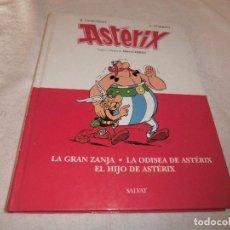 Cómics: ASTERIX 3 NUMEROS : LA GRAN ZANJA, LA ODISEA DE ASTERIX Y EL HIJO DE ASTERIX. SALVAT 2008.TAPA DURA. Lote 190904438