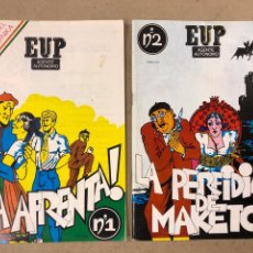 Cómics: EUP, AGENTE AUTÓNOMO N° 1 Y 2 (1983). J.J. RAPHA BILBAO Y JUAN GIL. FANZINE GETXO. EDICIONES LIBROPU. Lote 190996643