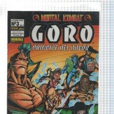 Cómics: MORTAL KOMBAT GORO PRINCIPE DEL DOLOR NUMERO 3. Lote 191913410