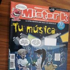Cómics: MISTER K 10. REVISTA DE COMIC DE EL JUEVES. GRAPA. BUEN ESTADO. Lote 193865756