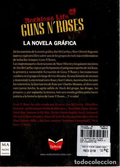 Cómics: GUNS N' ROSES. RECKLESS LIFE. JIM MCCARTHY. MARC OLIVENT. COMIC. NOVELA GRAFICA - Foto 2 - 194010667