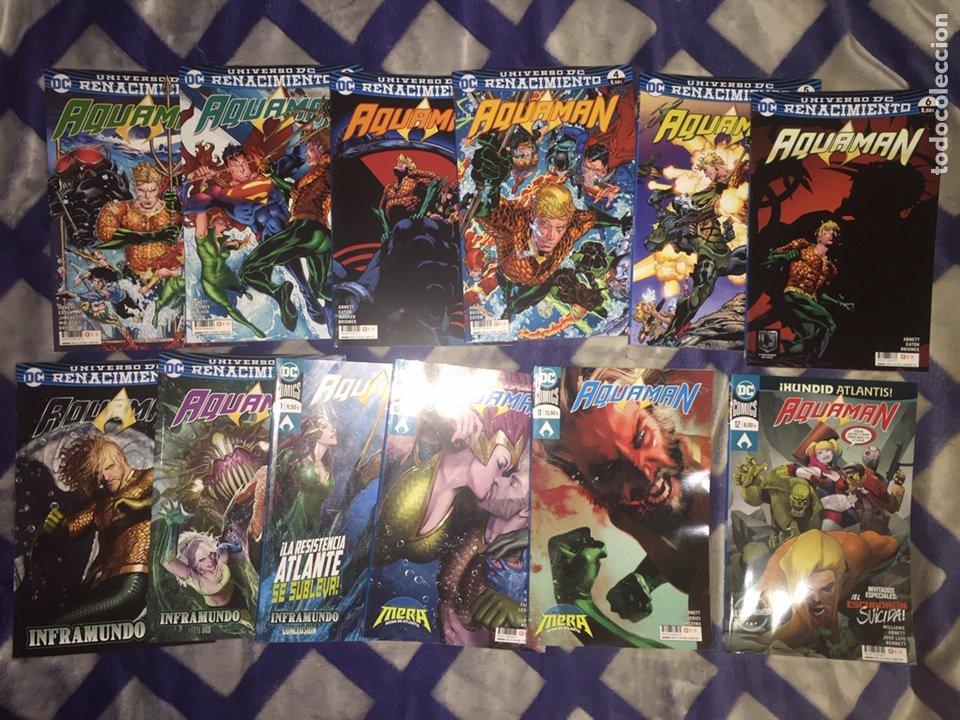 ¡¡LOTE 12 TOMOS AQUAMAN RENACIMIENTO. COMICS DC. ECC. !! (Tebeos y Comics - Comics otras Editoriales Actuales)
