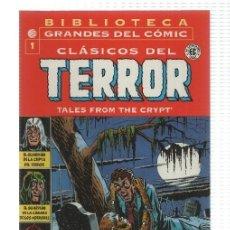 Cómics: CLASICOS DEL TERROR DE EC NUM 1, TALES FROM THE CRYPT. BIBLIOTECA GRANDES DEL COMIC - TODO DEBE .... Lote 194298253