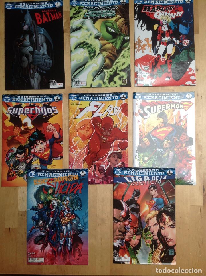UNIVERSO DC RENACIMIENTO - 8 NÚMEROS UNO DE LAS NUEVAS SERIES - (Tebeos y Comics - Comics otras Editoriales Actuales)