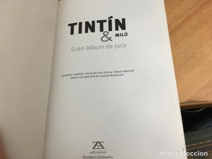 Cómics: TINTIN & MILU (GRAN ALBUM DE JOCS) PRIMERA EDICION 2011 (COIB59) - Foto 2 - 194347618
