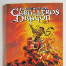 Cómics: GESTA CABALLEROS DRAGONES - VARANDA Y ANGE - DEVIR - TAPA DURA - MUY BIEN. Lote 194498252
